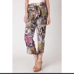 ANTHROPOLOGIE LEIFFSDOTTIR Silk Printed Pants 4